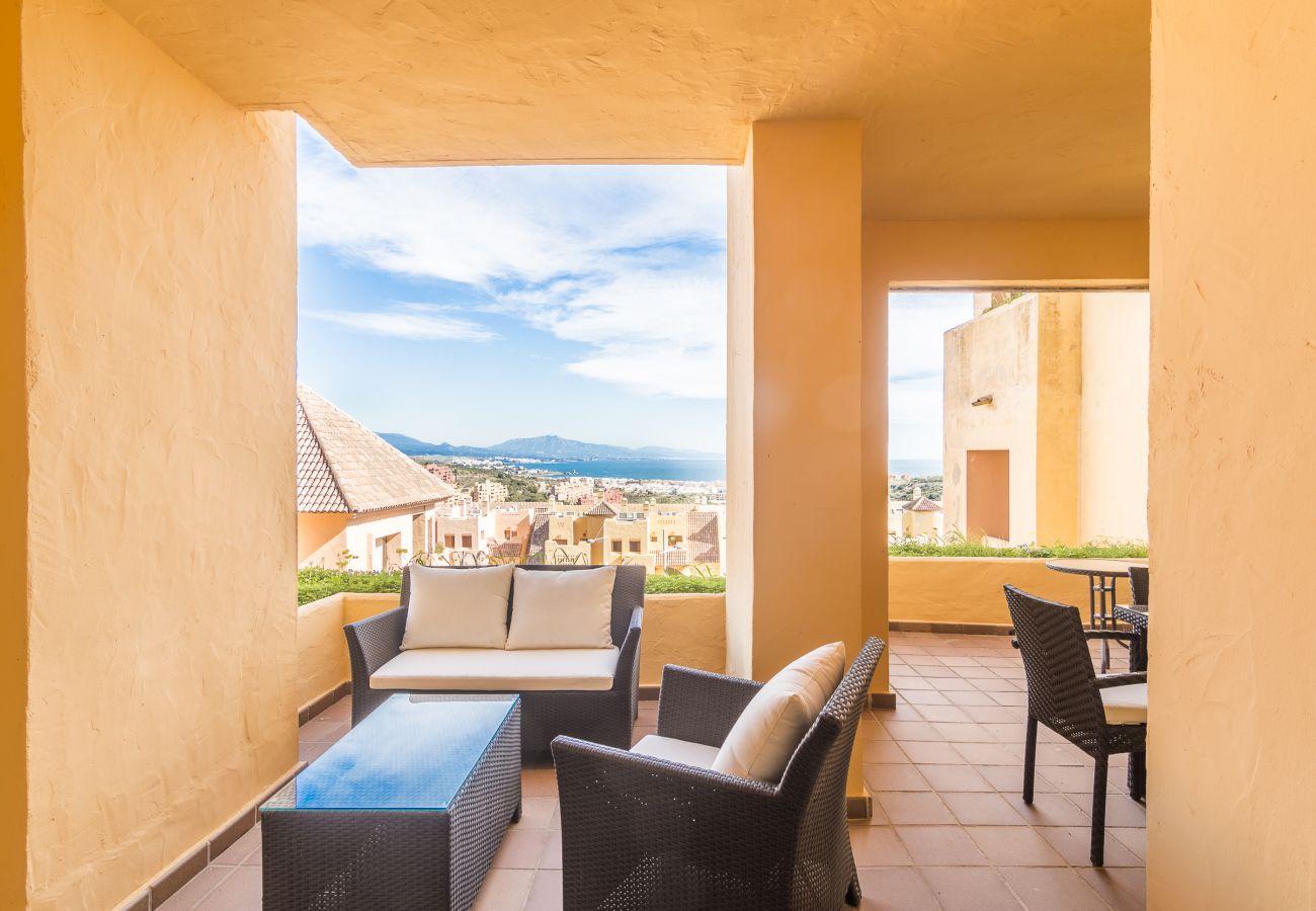 Zapholiday - 2185 - Verhuur appartement Manilva - uitzicht op zee